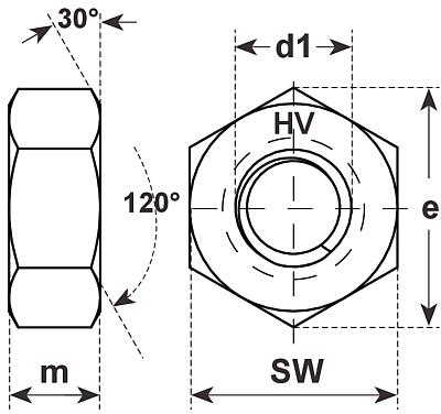 k wi hv sechskantmuttern en14399 4 10 feuervz m12. Black Bedroom Furniture Sets. Home Design Ideas